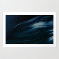 Storm in blue Art Print