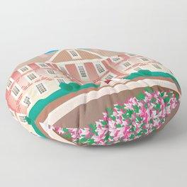 Chapel Hill, North Carolina - Skyline Illustration by Loose Petals Floor Pillow