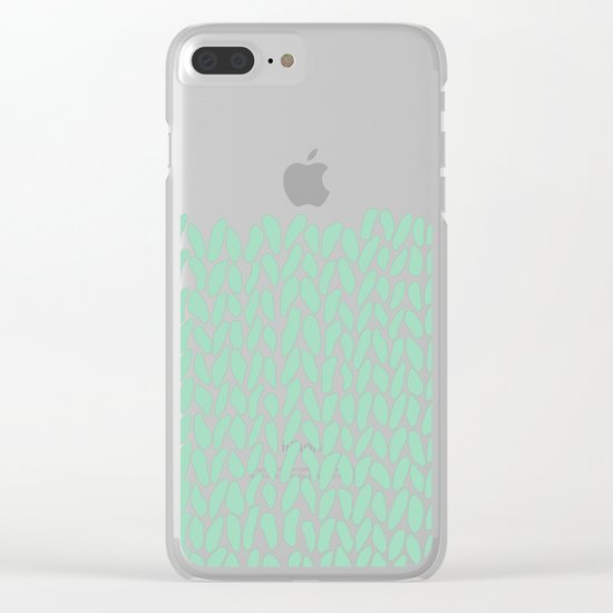 Half Knit Mint Clear iPhone Case