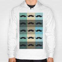 moustache Hoodies featuring Moustache by Zetanueta