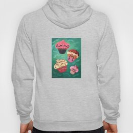 Mustached Cupcakes Hoody