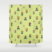 earthbound Shower Curtains featuring Earthbound - Mother 2 by Nikki White