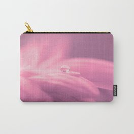 Lonely droplet pink daisy flower  - Floral on #Society6 Carry-All Pouch