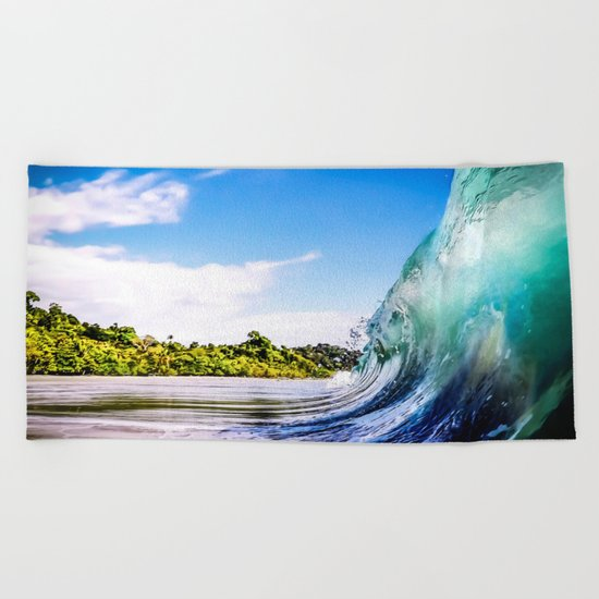 Wave Wall Beach Towel