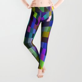 retro color box Leggings