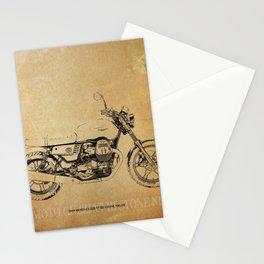 235-2019 Moto Guzzi V7 III Stone Night original gift for man cave Stationery Cards