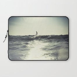 SUP board surfer at Sunset vintage Film simulation Laptop Sleeve