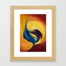 fraction Framed Art Print