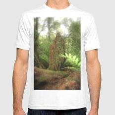 Forest Green White MEDIUM Mens Fitted Tee