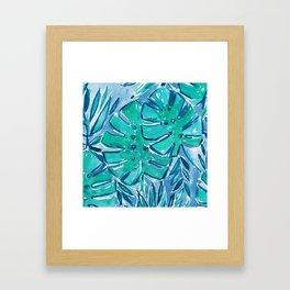 GOOD JUJU JUNGLE Monsteras Framed Art Print
