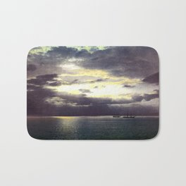 Vintage Sunset Waters : St Lawrence River 1901 Bath Mat