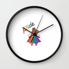 LGBTQ | LGBT | Rainbow | Bisexual | Gay | Transgender | Lesbian | Equality | Love | Pride Wall Clock