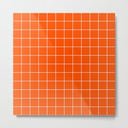 Flame Grid Metal Print