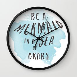 Be a Mermaid Wall Clock