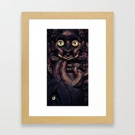 NEW ZEALAND CARVING Framed Art Print