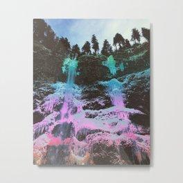 Rainbow Frozen Waterfall Metal Print