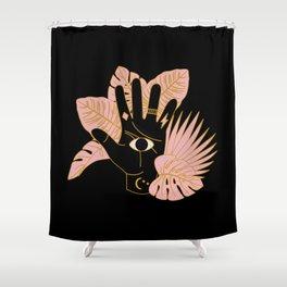 Mystic Hand Black Shower Curtain