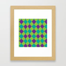 Modern Argyle 2 Framed Art Print