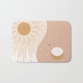 Yin Yang Blush - Sun & Moon Bath Mat