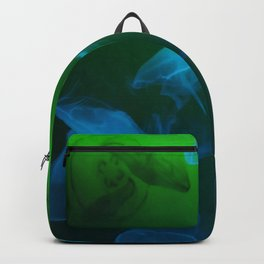 Moon Jellyfish - Blue and Green Backpack