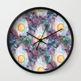 egg tropical pattern Wall Clock