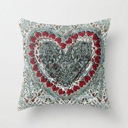 Winter Heart Throw Pillow