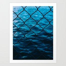 Fence and sea Art Print