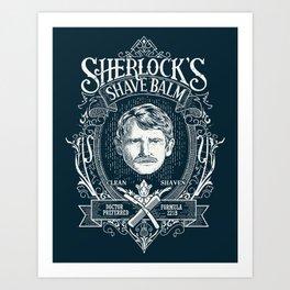 Sherlock's Shave Balm Art Print