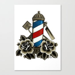 Barber's Life Canvas Print