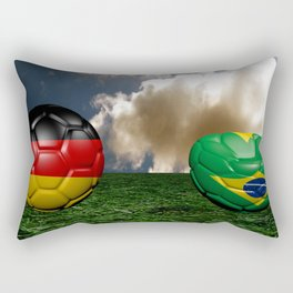 Soccer World Cup GER BRA Rectangular Pillow