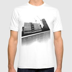 Modernity Lost White Mens Fitted Tee MEDIUM