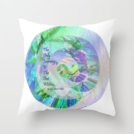 The Only Journey Is The One Within / Rilke Throw Pillow