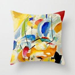 Kandinsky Sea Battle Throw Pillow