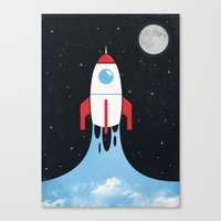 rocket Canvas Prints featuring Rocket by laurxy
