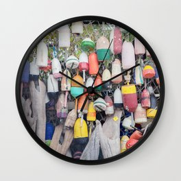 Buoys   Nautical Photograph Wall Clock