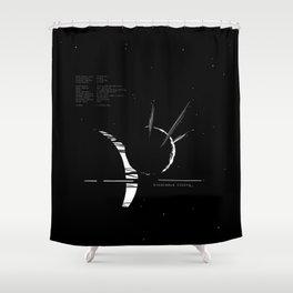 Enceladus rising_ Shower Curtain