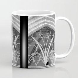Window of St. Mary's Church Torgau, black and white photo Coffee Mug