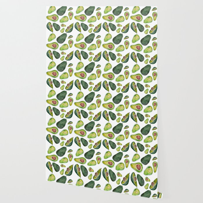 Avocado Slices Wallpaper