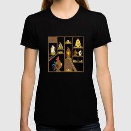 Chicken Coop - chickens, farm, illustration, birds T-shirt