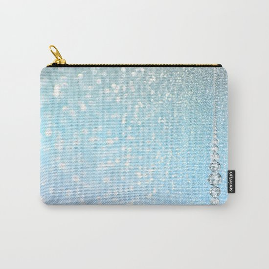 Diamonds are girls best friends I - Blue mermaid glitter texture Carry-All Pouch