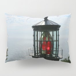 The Red Beacon On Tillamock Bay Pillow Sham