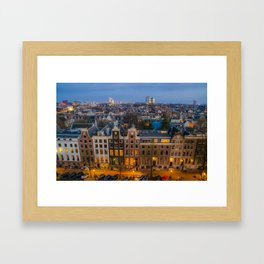 Amsterdam Houses - Traditional and Modern Architecture Framed Art Print