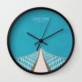 Carrick-A-Rede Rope Bridge Wall Clock