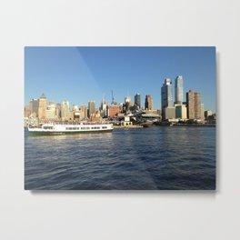 Manhattan, New York City, View from Hudson River Metal Print