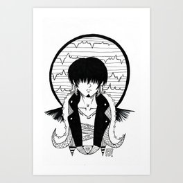 OSMAR Black and white alternative Cthulhu Art Print