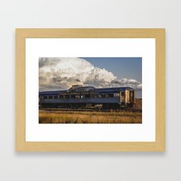 Storm Builds Over Charlie Russell Chew Choo Framed Art Print