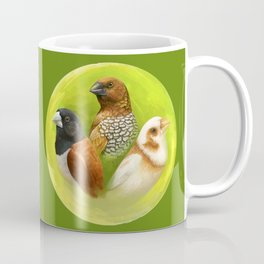 Munia finches realistic painting Coffee Mug