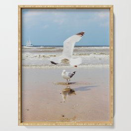 Ocean view | Coastal colour photo | Film photography | Beach Art Print Serving Tray