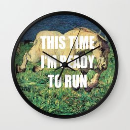 Ready to Gallop Wall Clock