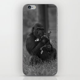 Cheeky Gorilla Lope Mono iPhone Skin